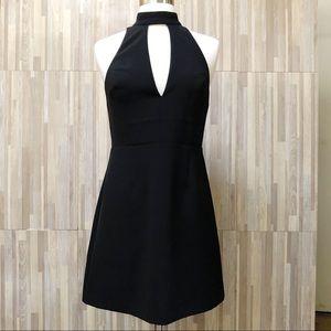 Express | 4 Black Mini Mock Neck Dress